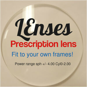 prescription replacement lenses service in your own eyeglasses frames