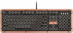 Azio Retro Classic Series Keyboard Typewriter Look Mechanical Vintage Luxury NEW