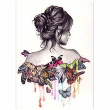 Butterfly Girl 5D Diamond DIY Painting Bedroom Wall Cross Decorations Gift M6M7