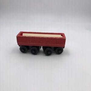 Thomas Wooden Railway Red Sawmill Log mill Log Car Lot w/ Logs