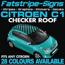 CITROEN C1 GRAPHICS CHECKER ROOF CAR VINYL DECALS STICKERS STRIPES 1.0 1.4 VTR