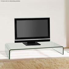 TV-Schrank Glasaufsatz Monitorerhöhung Glas Glastisch 80 cm Ablage Unterschrank