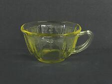 Princess Pat 1930's Tea/Coffee Cup Topaz Yellow Depression Glass, Anchor Hocking