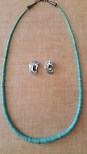 ARIZONA TURQUOISE NECKLACE and Inlaid Clip Earrings