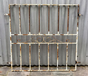 VINTAGE RETRO DECORATIVE WROUGHT IRON METAL HOUSE WINDOW SECURITY GRILL  MELB