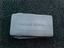 Vintage Chivas Regal Advertising Money Clip Gentlemans Knife Colonial Usa