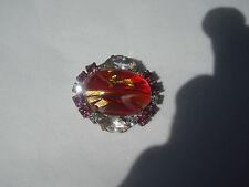 Czech Glass Rhinestones Button, Dazzle & Bling! Item 207