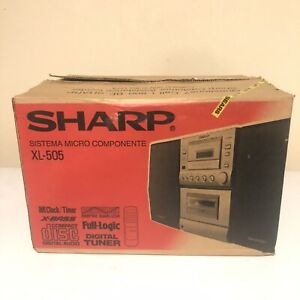SHARP Model XL-505 Desktop Home Audio Compact System CD & Cassette w/ Remote New