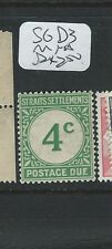 MALAYA STRAITS SETTLEMENTS (PP0710B) POSTAGE DUE 4C   SG D 3    MNH