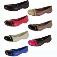 Crocs Womens Slip On Cap Toe Flat Shoes