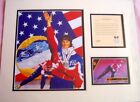 Bonnie Blair 1994 Olympic Gold Medal Speed Skater 11x14 inch matted art print MT