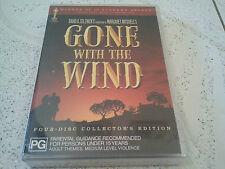 GONE WITH THE WIND 4-DISCS COLLECTORS EDITION DVD BOXSET NEW SEALED AUS