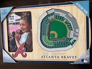 Atlanta Braves  Baseball Stadium MLB 3D Picture Wood Frame 4x6 Portrait Photo