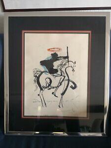Salvator Dali Le Cheval Noir lithographie signee numérotée 192/350 surréaliste