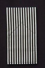 POCKET SQUARE Black & White Stripe New  - Prefolded & Sewn-Just Slips In Pocket