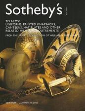 Sotheby's Uniforms Knapsacks Canteens & Militia Auction Catalog '2003'
