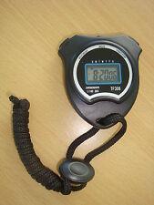 STOPWATCH handheld DIGITAL 1/100 seconds precision stop watch ALARM timer clock