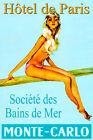 MONTE CARLO Hotel de Paris Retro European Travel Poster Pin Up Art Print 203
