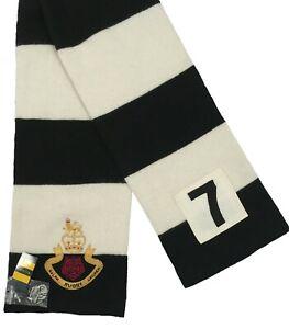 NEW Rugby Ralph Lauren Vintage Cashmere Scarf!  3 Striped Patterns Crest  Unisex