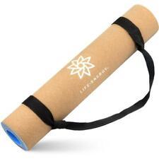 Life Energy 5mm EkoSmart Cork Yoga Mat with Carry Strap