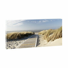Nordseestrand Bild Strand&Meer Nordsee Poster Leinwand  XXL 160 cm*80 cm 301