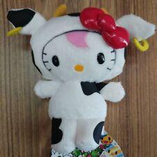 Hello Kitty X tokidoki Plush COW Kitty With Free Sticker 15cm 6inch SALE