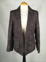 Ladies Jacket Size 10 Tweed Boucle Navy Red Gold Smart Casual Country Shooting