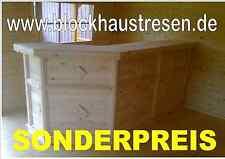 Hausbar Tresen Theke Massivholztheke Kellerbar Blockhaustresen