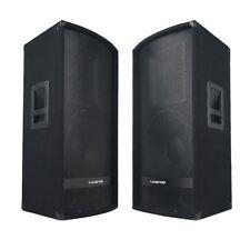 "Sound Town 15"" 1400W 2-Way Full-range DJ PA Passive Loud Speakers METIS-115-PAIR"