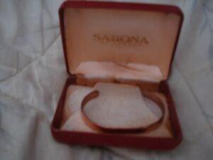 sabona wrist bracelet copper Sabona and London engraved