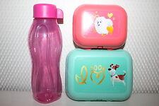Tupperware Eco Easy Flasche in rosa 310ml PETS Twin 2-tlg.Set Dosen Frühstückdox