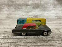 Corgi Toys 214S Metallic Grey & Red Ford Thunderbird Model Toy Car in Box