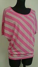 Shirt Tshirt Tunika Jersey Top Laura Scott Gr. 36-38 Rosa Streifen NEU