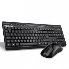 TeckNet 2.4Ghz Ergonomic Wireless Keyboard and Mouse Combo (GBR Layout - QWERTY)