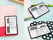 Mini Slim Credit Card Solar Power Pocket Calculator Novelty Small Travel Xq