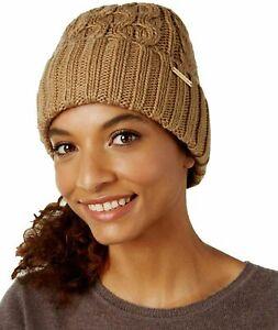 Calvin Klein Michael Kors Ladies Camel Coloured Knitted Beanie Hat