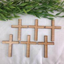 Cross, Regiloius Cross, DIY Art & Craft, scrapbooking wooden cake decor,Set of 6