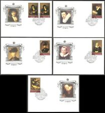 Paintings by Rembrandt in Hermitage Museum 1983 USSR set 5 FDC Mi 5259-63