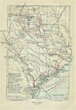 Original Revolutionary War Map titled South Carolina 1779 - 1780