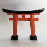 F/S Fushimi Inari Shrine Wooden Torii Gate Vermillion Kyoto Japan 15cm 17.5cm