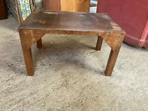 Vintage Antique Small Brown Wooden Side End Coffee Table