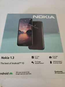"""Nokia 1.3 Smartphone (NO VERIZON) with 5.7"""" HD+ Screen All Day Charge Open Box"""