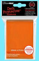 50 Ultra Pro ORANGE DECK PROTECTOR Standard Size Card Sleeves Pokemon ccg mtg
