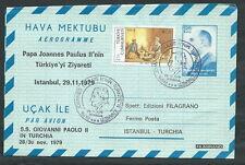 1979 VATICANO VIAGGI DEL PAPA AEROGRAMMA TURCHIA ISTANBUL - EV
