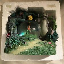 Disney Jungle Book Baloo Mowgli Bagheera Musical Blower Figurines SnowGlobe-MIB