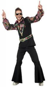 Hippy Hemd Bluse 70er 80er Jahre Kostüm Flowerpower Oberteil Hippie Party Disco