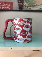 Vintage Flour Sifter Red And White Checks