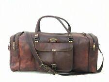 Bag weekend Travel Luggage Real Brown Handmade Leather Duffel Bag Sports Cabin