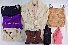 Bebe Women's Mixed Lot of 8 Sweaters, Jacket, Tops, Dress Medium M CG13677