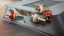 4PC RCA Socket Phono Female Chassis HIFI AMP AUDIO Red Copper Plated